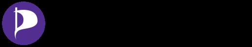piratpartiet logga lila med svart text